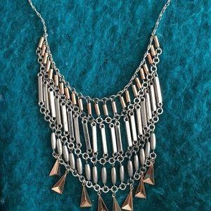 Color metal necklace